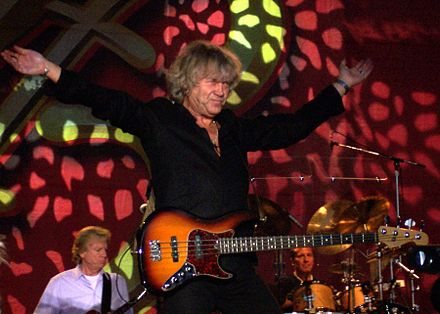 The Moody Blues bassist John Lodge produced the first two albums by Trapeze, 1970's Trapeze and Medusa. JohnLodge.jpg