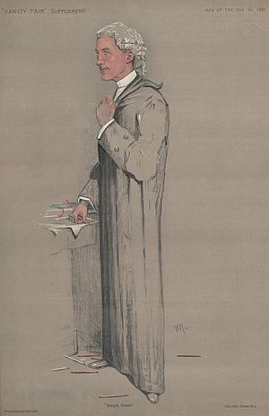 "Walthamstow by-election, 1910 - Sir John Simon KC, as caricatured in Vanity Fair on 18 October 1911 with the caption ""Simple Simon""."