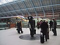 John Betjeman and friends at St Pancras Station - geograph.org.uk - 932883.jpg