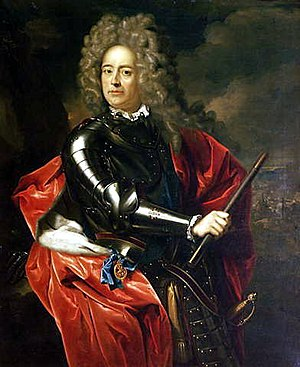 Battle of Blenheim - Portrait of the Duke of Marlborough by Adriaen van der Werff (December 1704) Uffizi