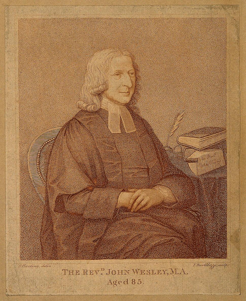 John Wesley. Stipple engraving by F. Bartolozzi after J. Zof Wellcome V0006236