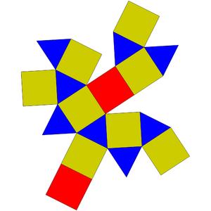 Square gyrobicupola - Image: Johnson solid 29 net
