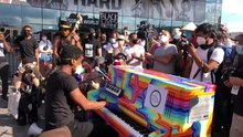 File:Jon Batiste Performs at Black Lives Matter Rally at Barclays Center, June 12th, 2020.webm