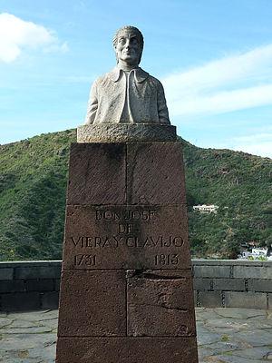 José de Viera y Clavijo - Bust in the Botanical Garden on Grand Canaria