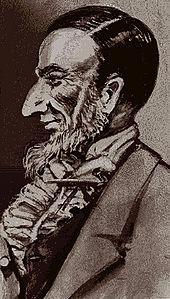 Ritratto di caricatura del giudice Augustus B. Woodward