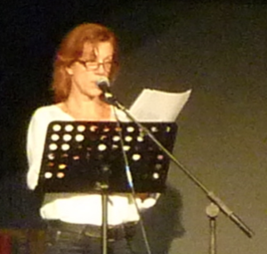Juliet Stevenson - Stevenson speaking at the 2011 Latitude Festival.