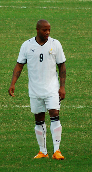 Junior Agogo - Agogo playing for Ghana at the 2008 African Cup of Nations