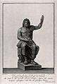 Jupiter (Zeus). Engraving by F. Piranesi, 1781, after T. Pir Wellcome V0036052.jpg