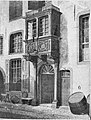 Köln - Severinstraße Haus Balchem Eingang mit Erker Johann Peter Weyer Kölner Alterthümer 1852 Bd 18, Aquarell Thomas Cranz Adolf Wegelin.jpg