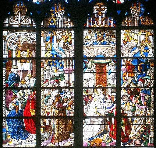 Köln Dom Fenster 3Könige Detail