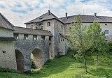 Köttmannsdorf Hollenburg Burganlage Brücke über Halsgraben 13072018 6007.jpg