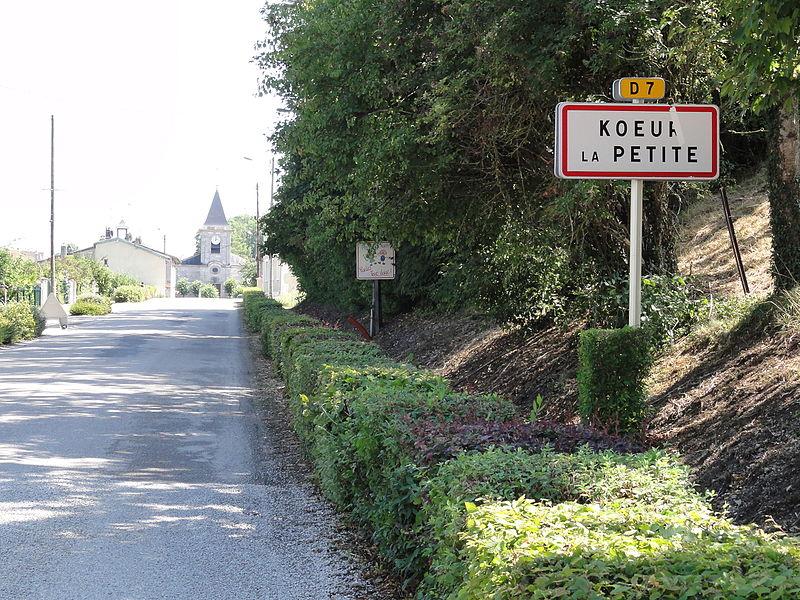 Kœur-la-Petite (Meuse) city limit sign