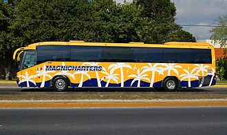 Magnicharters - Magnicharters shuttle bus in Cancún.