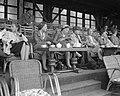 KNVB-vergadering in Krasnapolsky over kwestie Hoolboom Hoolboom achter het spre, Bestanddeelnr 908-9085.jpg