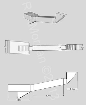 KV49 - Isometric, plan and elevation images of KV49 taken from a 3d model