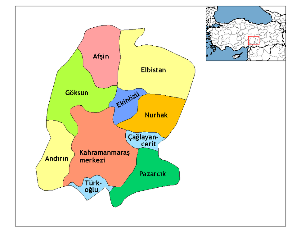 Kahramanmaraş districts