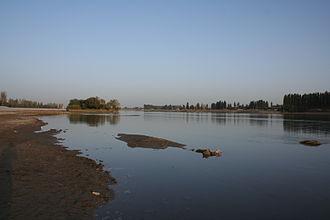 Kaidu - Kaidu River in the city center of Yanqi