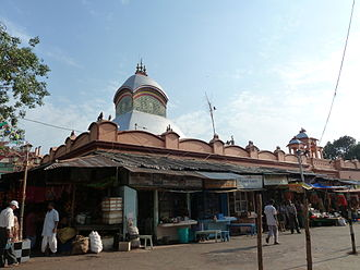 Kalighat - Kalighat Temple. Bazaar out the temple