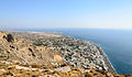 Kamari seen from ancient Thera - Santorini - Greece - 02.jpg