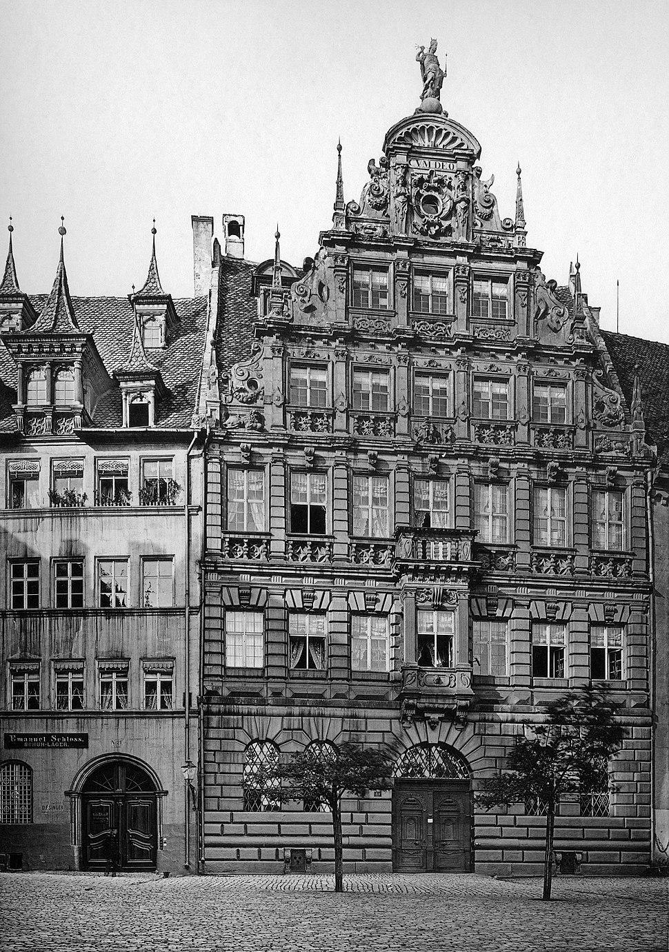 Karl Emil Otto Fritsch-Denkmaeler Deutscher Renaissance-1891-Nuernberg-Pellerhaus zu Nuernberg Aegidienplatz 1605 Facade