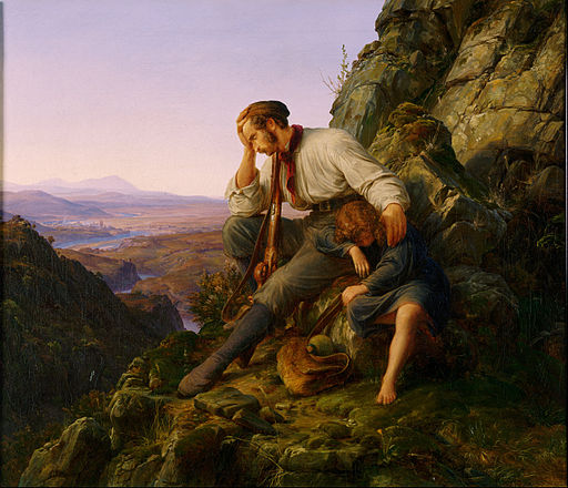 Karl Friedrich Lessing, German - The Robber and His Child - Google Art Project
