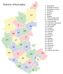Map of 30 districts in region