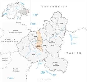 Karte von Ardez