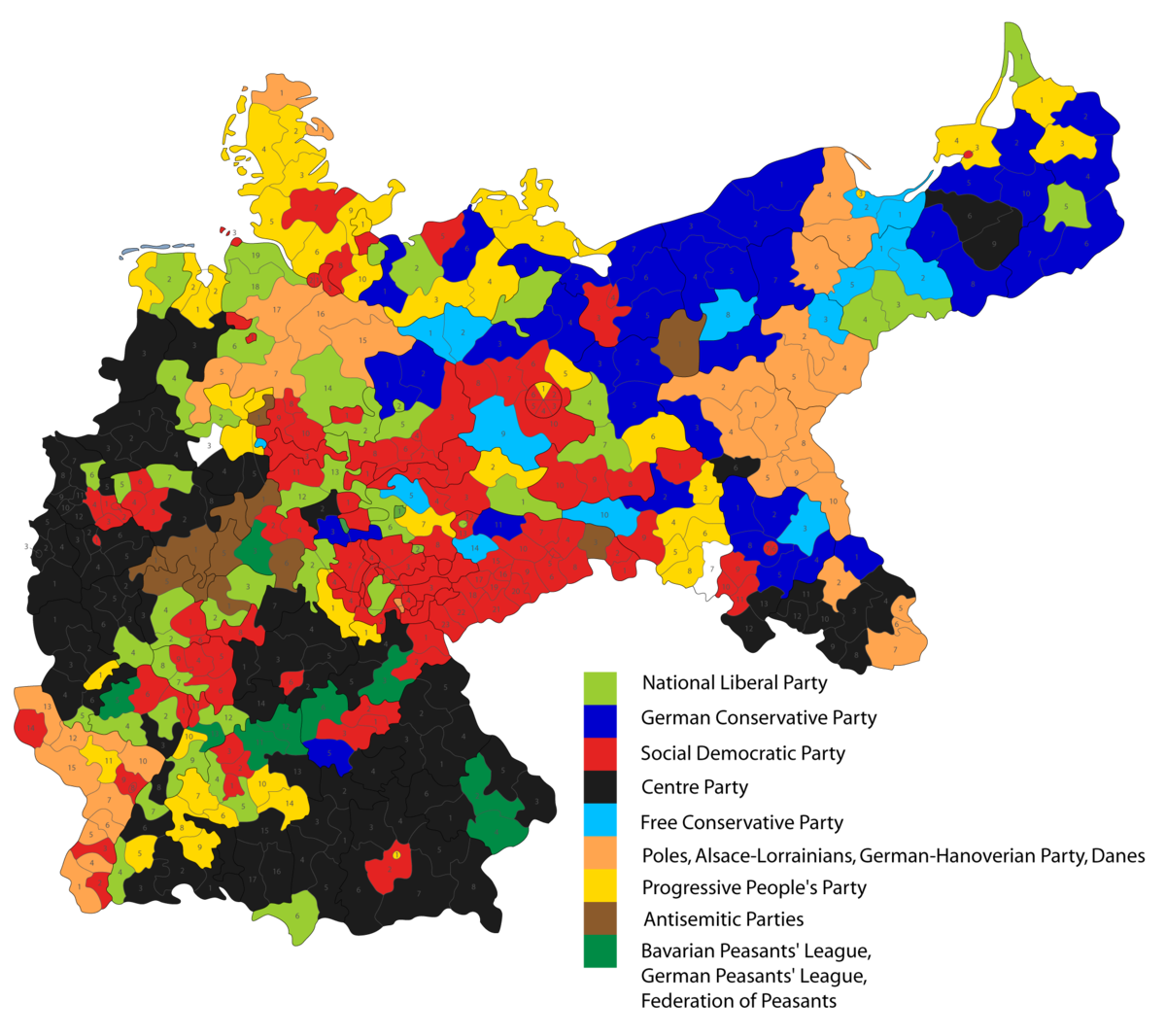 German Federal Election Wikipedia - Germany map 2017