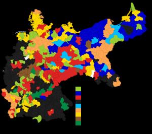 German federal election, 1912 - Image: Karte der Reichstagswahlen 1912 en