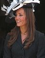 Kate Middleton at the Garter Procession 2008.jpg