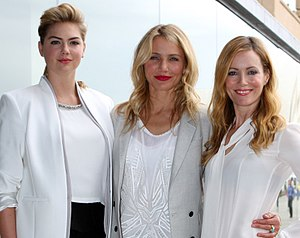 Kate Upton - Upton with Cameron Diaz and Leslie Mann at The Other Woman premiere in 2014