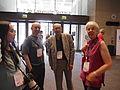 Katie Chan, Jack, Jon Davies and Julie at Wikimania 2014 01.jpg