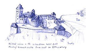 Modrý Kameň - Modrý Kameň Castle in the 17th century