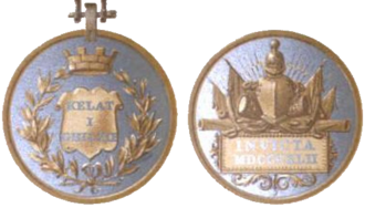 Medal for the Defence of Kelat-I-Ghilzie - Obverse and reverse of the medal