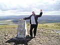 Kevin at Trig Pendle Hill - geograph.org.uk - 204426.jpg
