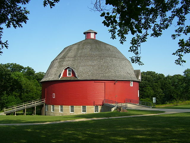 Kewanee, Illinois - Ryan Round Barn at Johnson Sauk Trail State Recreation_Area, by Ibzumin