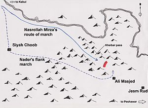 Khyber Pass Map Battle of Khyber Pass   Wikipedia
