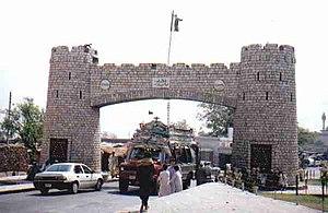 Khyber Pass - Bab-e-Khyber, the entrance gate of the Khyber Pass.