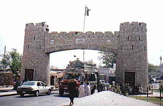 Khyber Pass - Bab-e-Khyber, the entrance gate of the Khyber Pass