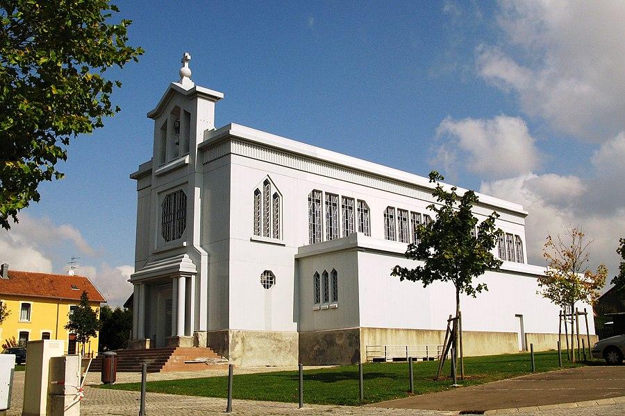 Église en fer de Crusnes en septembre 2008.