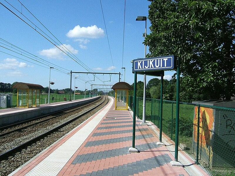 Kijkuit railway halt, Kalmthout, Belgium