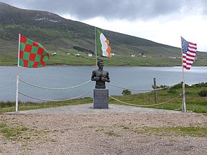 Johnny Kilbane - Statue of Johnny Kilbane on Achill Island, Mayo, Ireland