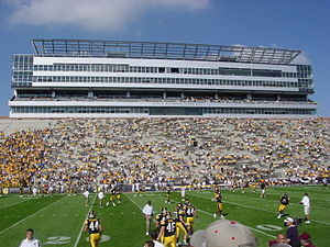 2007 Iowa Hawkeyes football team - Players prepare to play Montana on September 2, 2006.