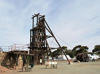 Broken Hill ore deposit - Old Kintore headframe, now a museum exhibit, Broken Hill