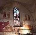 Kirche Behrenhoff, Chor Nordwand, Restorierung 2014.jpg