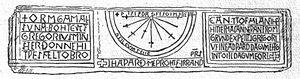 St Gregory's Minster, Kirkdale - The Kirkdale sundial