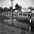 Kisfaludy utca, ekkor 49-es főút elágazása Szamostatárfalva felé a Móricz Zsigmond utcánál. A Szamoson 1970 májusában levonult árvíz idején készült a felvétel. Fortepan 87172.jpg