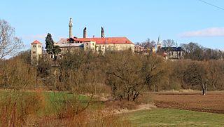 Klášter Hradiště nad Jizerou Municipality in Central Bohemian, Czech Republic
