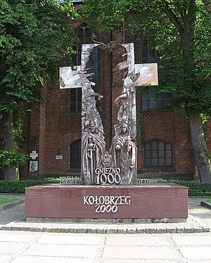 Congress of Gniezno - Memorial erected in 2000 at Kołobrzeg