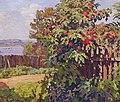 Konstantin Gorbatov - Landscape with a Fence.jpg